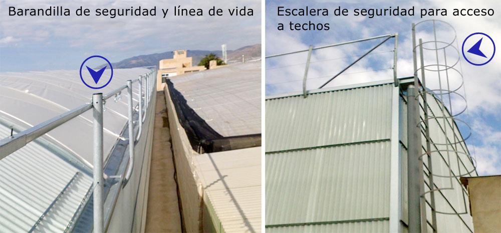 barandillas de seguridad en invernaderos