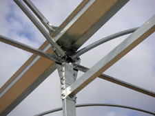 Detalle de estructuras de invernaderos