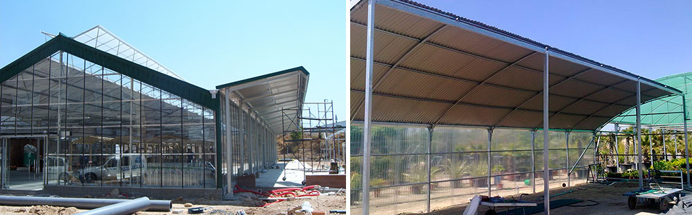 Porch and Marquees for greenhouses