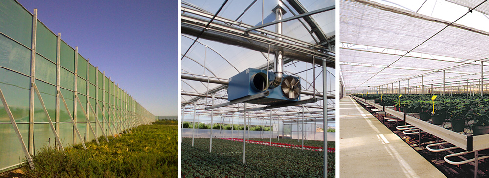 Technological equipment for greenhouses