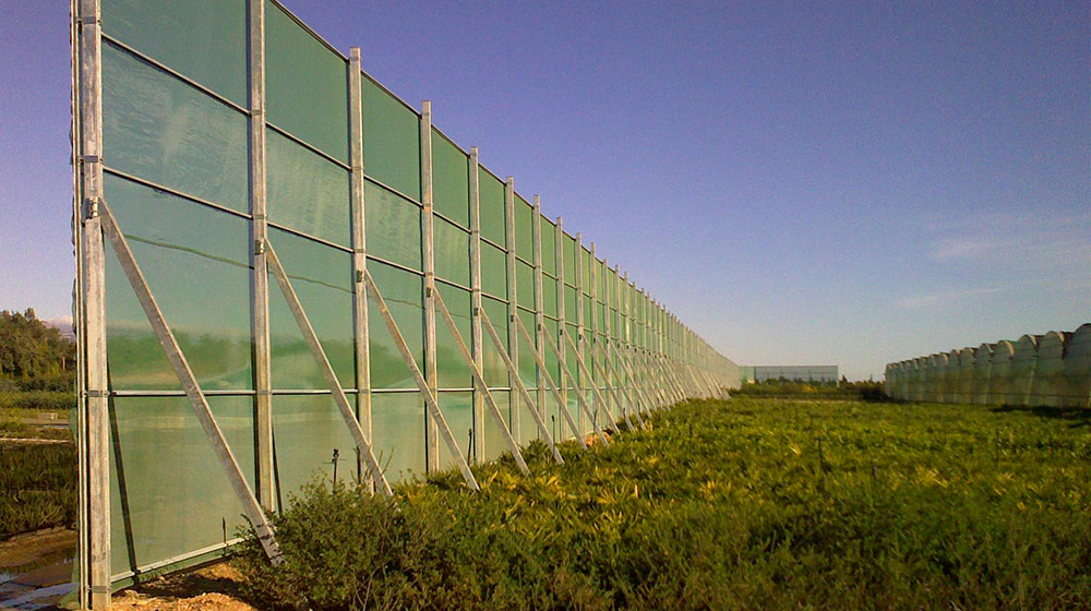 Windbreak structure made by ININSA
