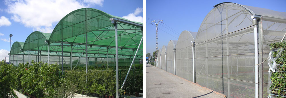 Exterior views of P-8 shading structure