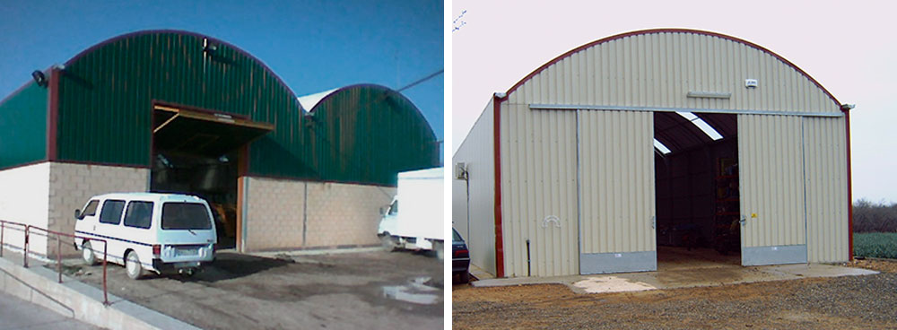 Curved Roof Warehouses Ininsa