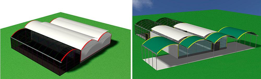Vistas 3D de proyecto para reconvertir vivero a Centro de Jardinería