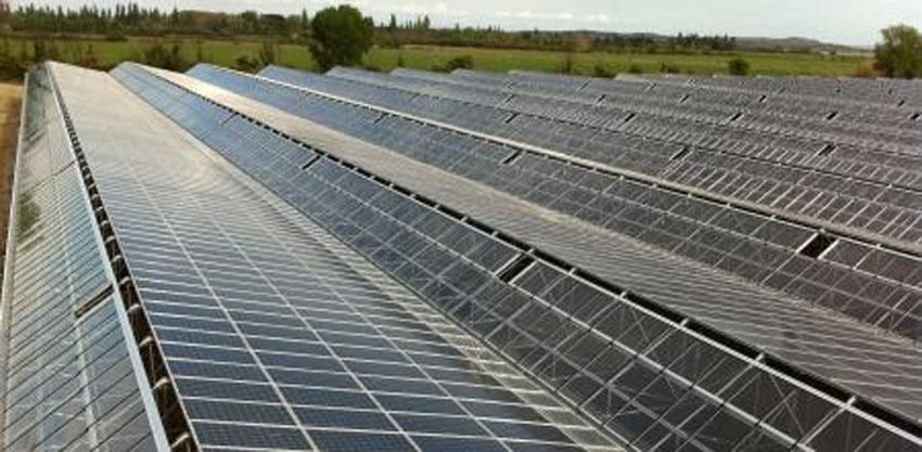 Invernadero fotovoltaico en Francia
